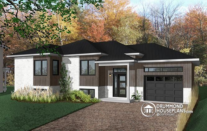 W3323-BIG - One-story split entry affordable house plan with ... on nice house roofs, nice house windows, nice house stairs, nice house decks, nice house rooms,
