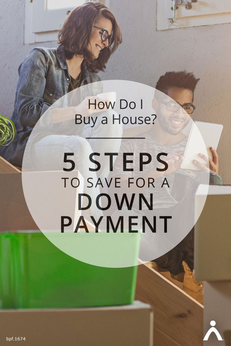 How do i buy a house 5 steps to save for a down payment