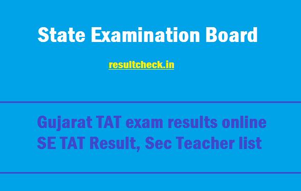 MARU Gujarat TAT Sec Result 2019 देखें online TAT