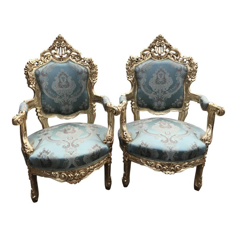 Italian Rococo Baroque Style Chairs A