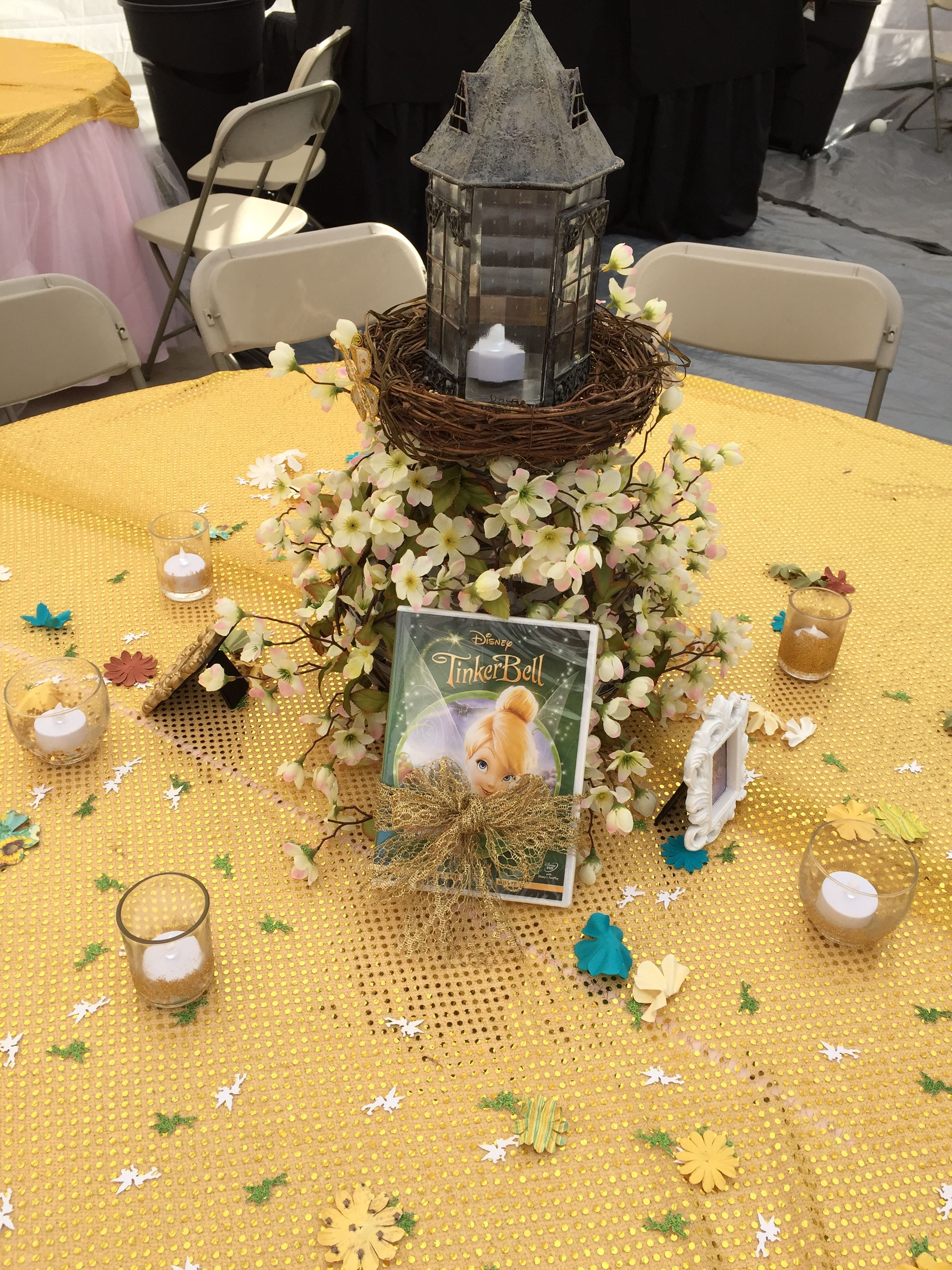Tinker bell center piece do it yourself girls bday pinterest tinker bell center piece do it yourself solutioingenieria Image collections