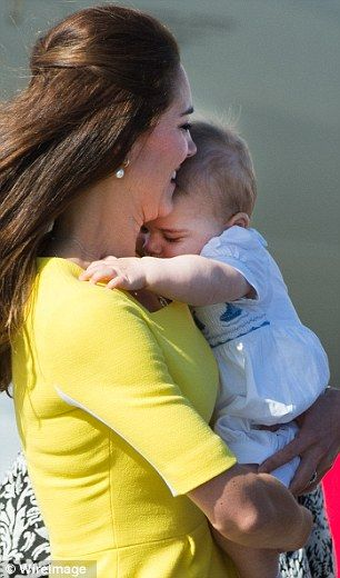 Prince George Looks Less Than Impressed In Nanny S Arms Prince