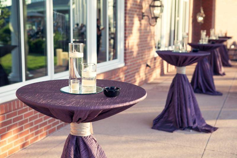 Best Images About Wedding Cocktail Tables On Pinterest - Cocktail table linens