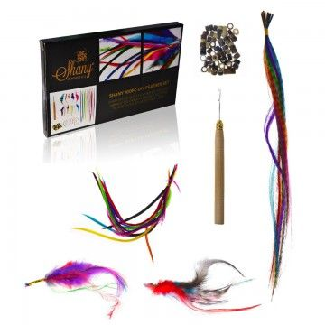 A Complete kit that brings you all you need to get the job done.100 piece Shany feather hair extension. Shampoo it, iron it, and even cut it. Synthetic feather extension etc etc. A perfect gift for girls!