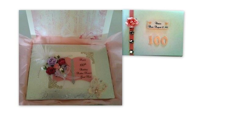 Personalised Boxed 100th Birthday Card - can be made for any age £10  #CRAFTfest