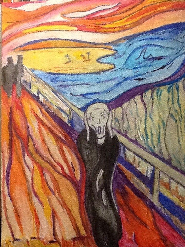 The Scream Art Lesson Plan   Elizabeth Reoch   Scream art