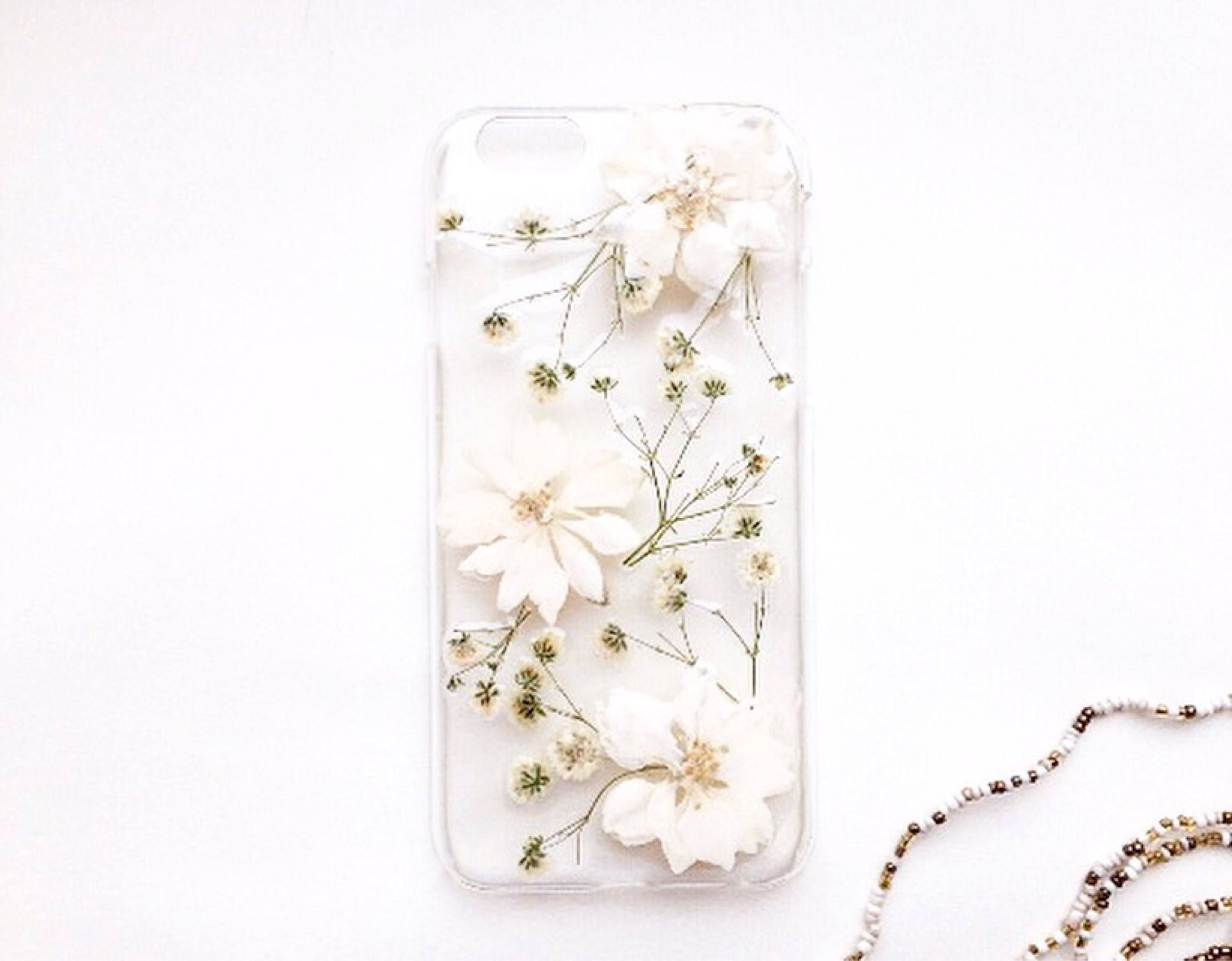iphone 7 phone case pressed flowers