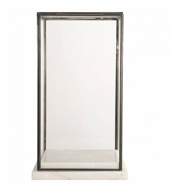 Housedoctor Stolp / Showcase glas marble, marmer 19x19x33cm - wonenmetlef.nl