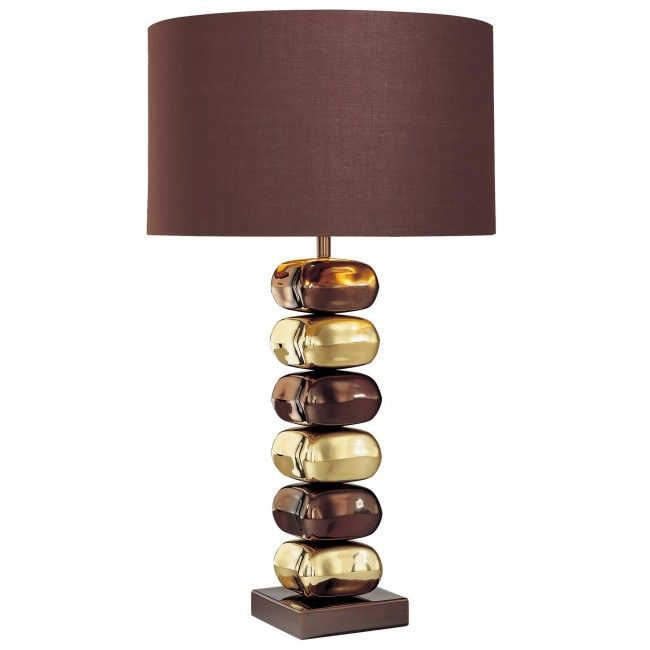 George Kovacs 1 Light Table Lamp In Chocolate Chrome Finish P730 631 Table Lamp Lamp Small Table Lamp
