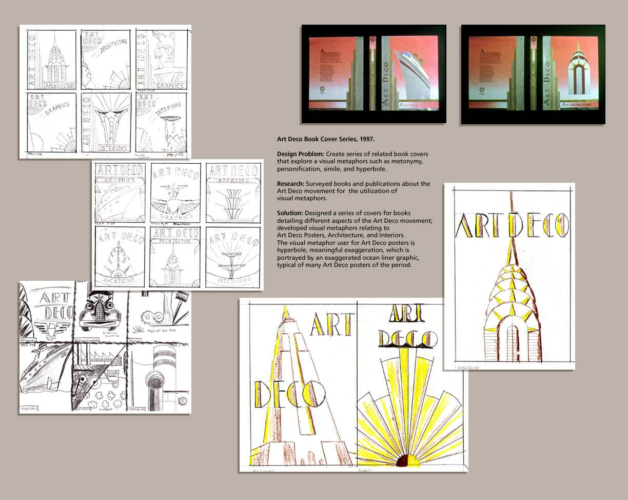 art deco portfolio layout