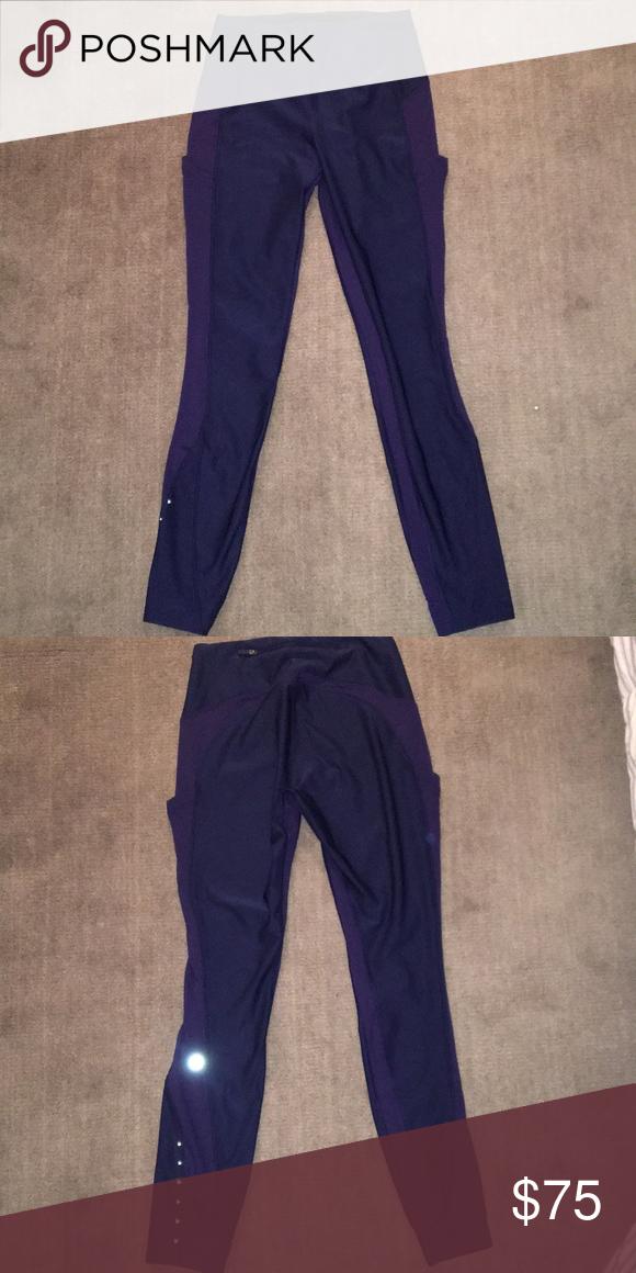 0e6196b6d5d769 Lulu Lemon Leggings Navy blue lulu lemon leggings are brand new! They are fleece  lined