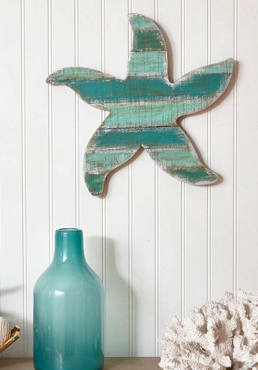 Coastal Wood Cutouts Wall Decor Starfish Seahorse Mermaid Fish More Sea Decor Wood Cutouts Blue Wall Art