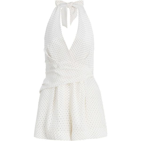 5d56d41262 Zimmermann Backbeat Dot Wrap Playsuit (21.265 RUB) ❤ liked on Polyvore  featuring jumpsuits