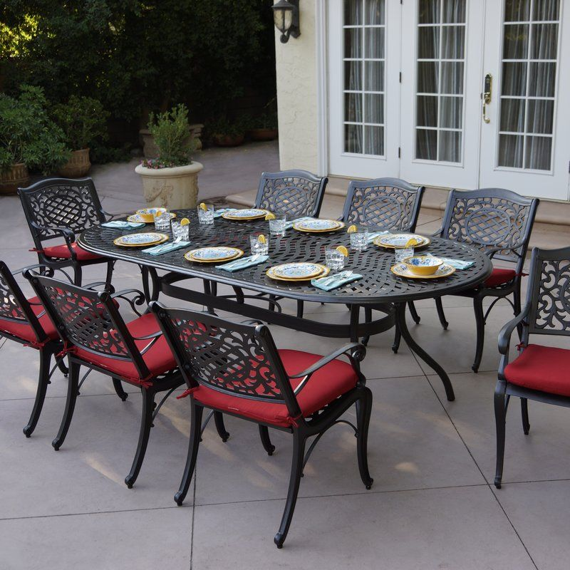 Appleby 9 Piece Dining Set With Cushions Outdoor Furniture Sets Patio Dining Set Outdoor Dining Set