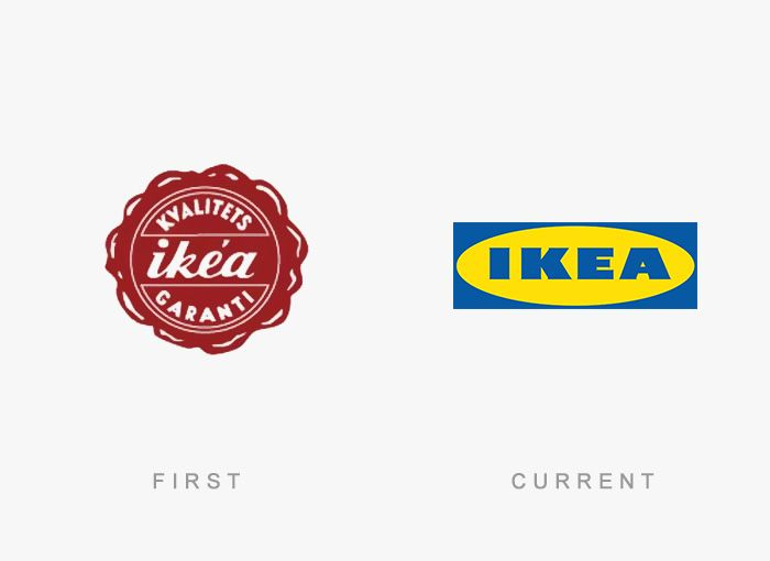 50 Famous Logos Then And Now Con