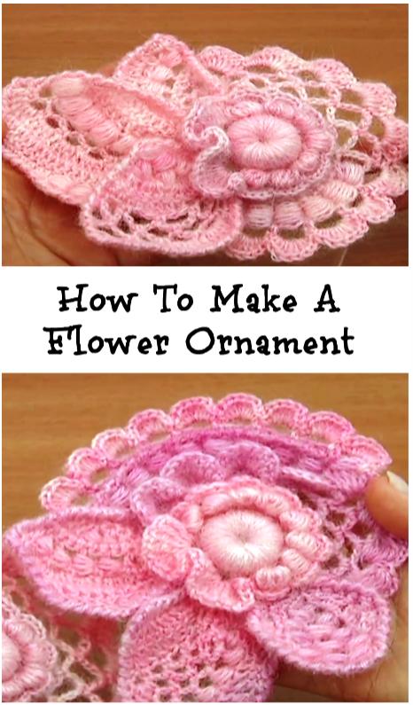 Flower Ornament | colchas | Pinterest | Blusas tejidas, Ganchillo ...