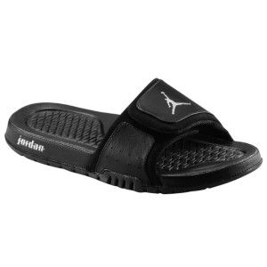45b204c518be7 Jordan Slides. Black And Silver.  2 Choice For Slides.