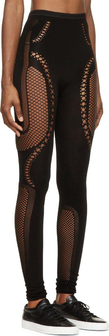 25c6c162b05f7 McQ Alexander Mcqueen Black Mesh Leggings | sport bra