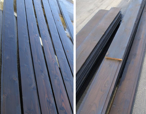 7 Popular Siding Materials To Consider: Shou Sugi Ban Western Red Cedar-final Result. Boards Have