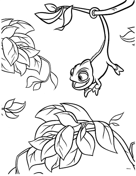 pascal   tangled coloring pages, rapunzel coloring pages