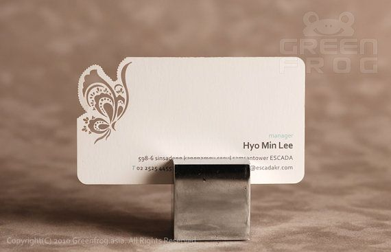 Customized Business Cards With A Butterfly Pattern Laser Cut - Place card maker