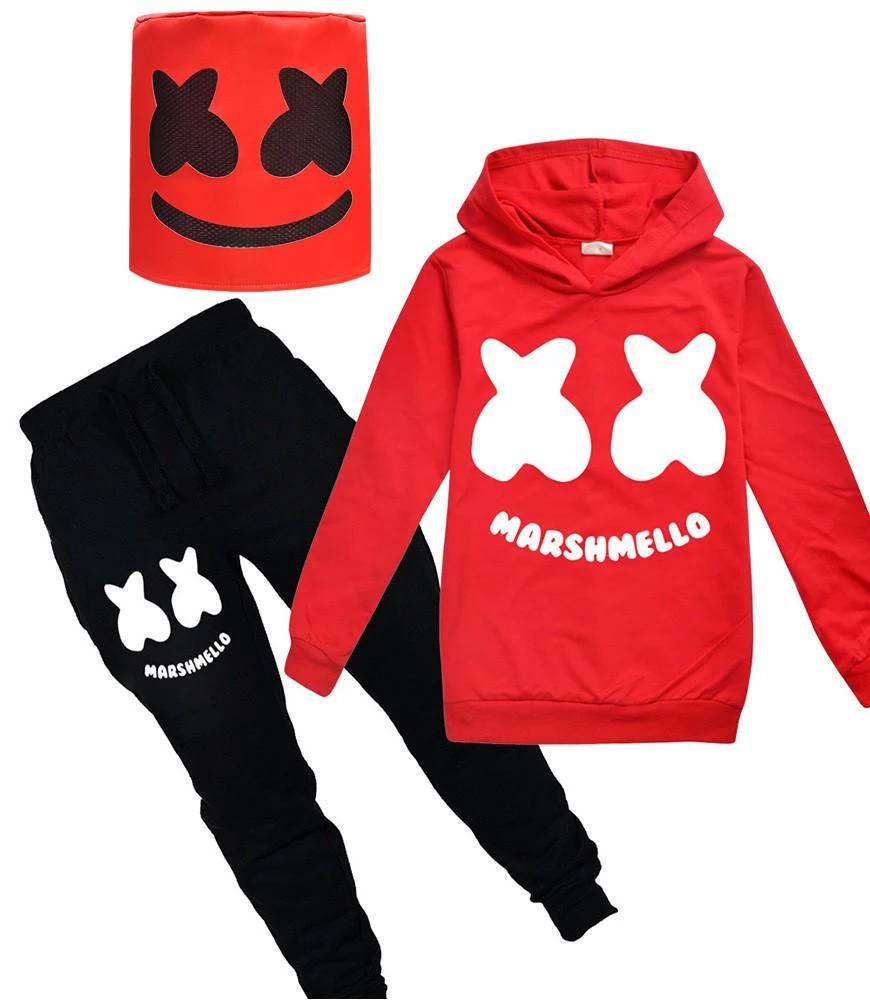 Youth Among Gamer US Hoodie and Sweatpants Suit Boys Girl Tracksuit Set 2 Piece Outfit Sweatsuit