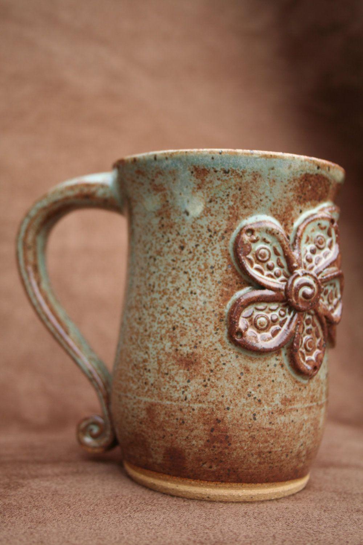 Etsy transaction ceramic pottery mug pottery mugs for Clay mug ideas