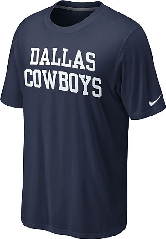 Nike Dallas Cowboys Blue Dri-FIT Legend Coaches T Shirt  32.95 ... 08e0ed97a