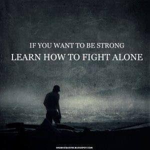 ga alleen.....