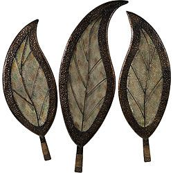 @Overstock   Set Of 3 Infinity Leaf Design Wall Decor   These Infinity Leaf  Wall