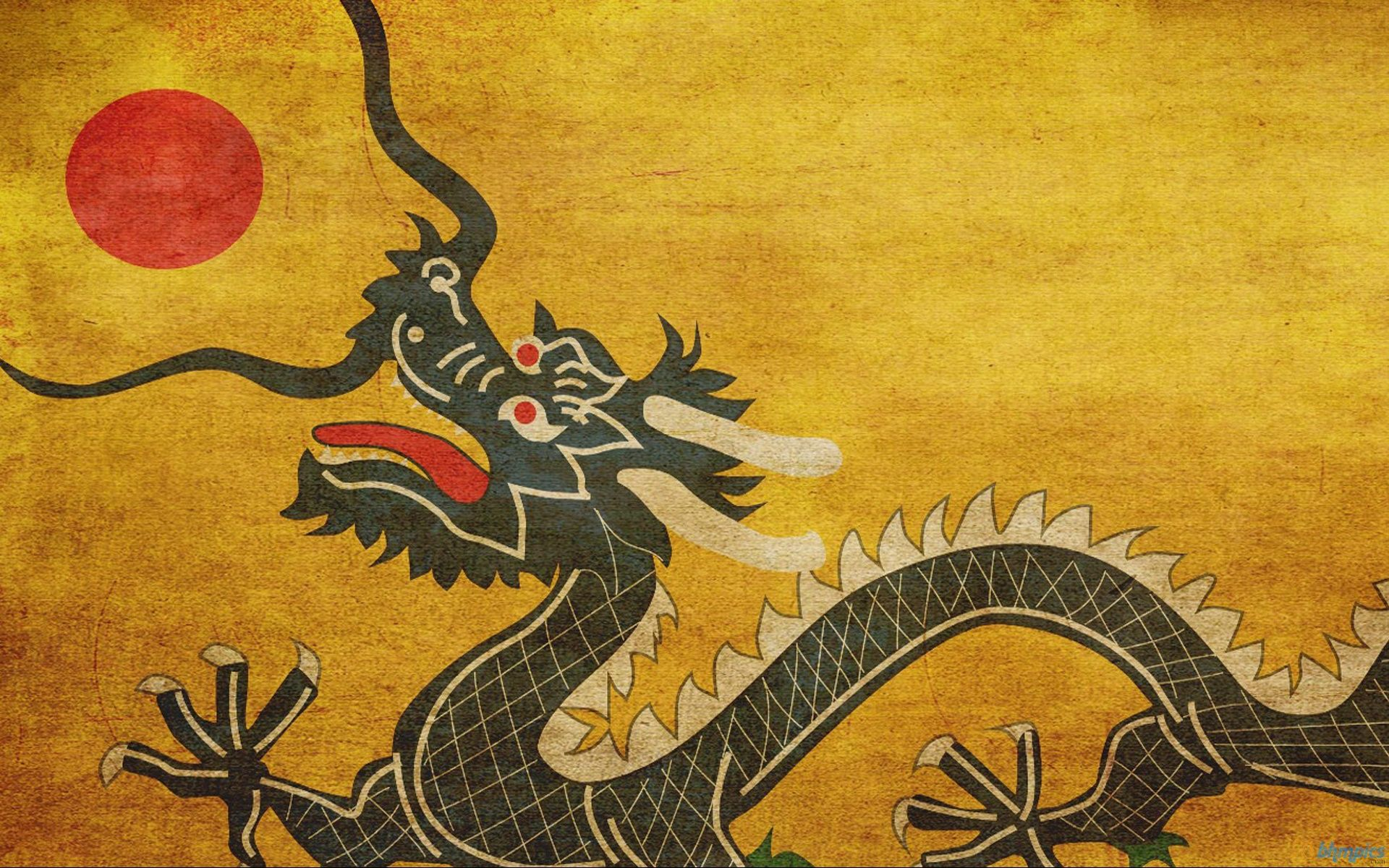 Qing Dynasty Flag Wallpapers 1920x1200 1004435 Japanese Art Art Dragon Fight