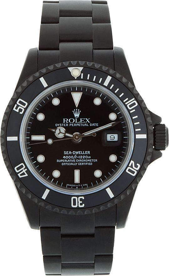 73efa63cd32 Black Limited Edition - Matte Black Limited Edition Rolex Sea Dweller Watch