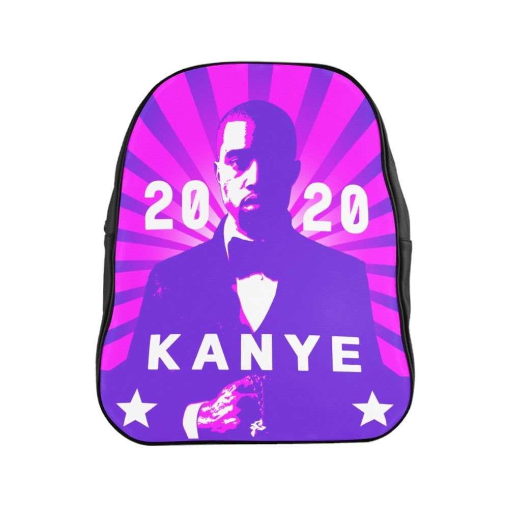 Kanye West For President 2020 Purple And Pink School Backpack In 2020 School Backpacks Kanye West President 2020