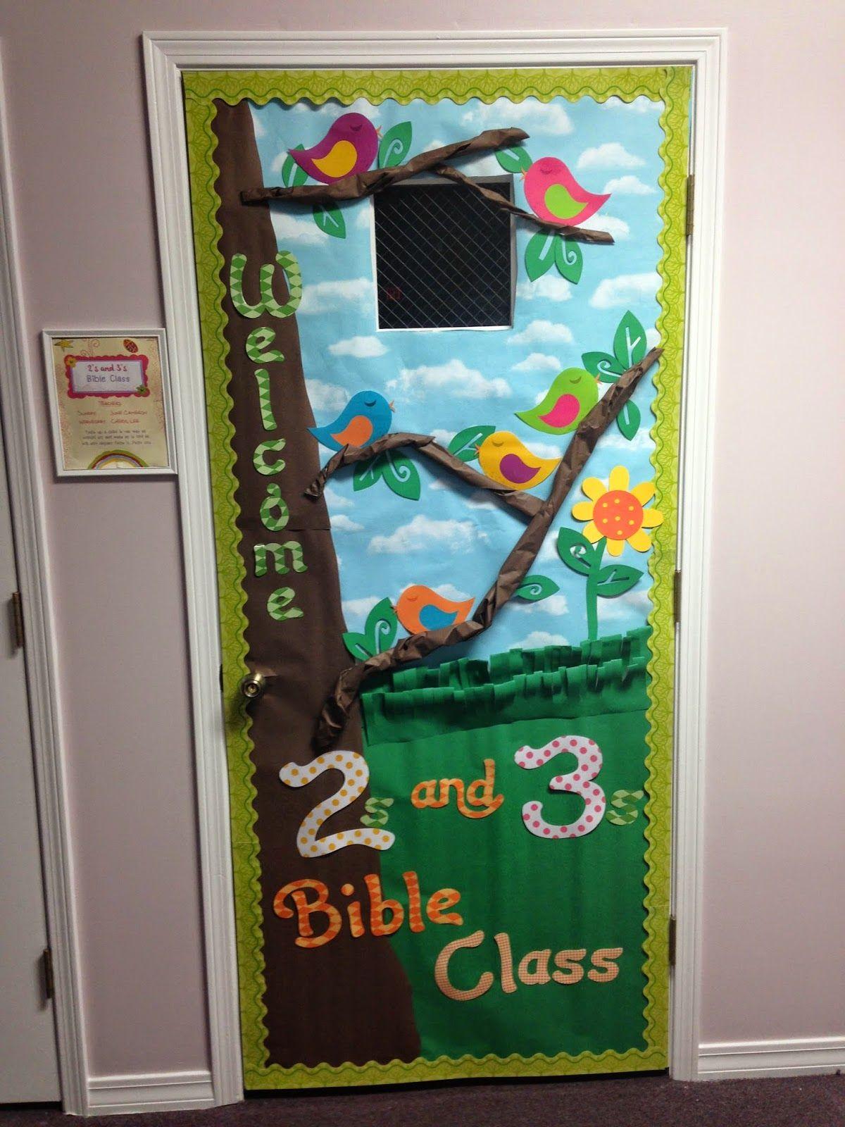 Classroom Decor Birds ~ Door decoration spring birds calling her blessed