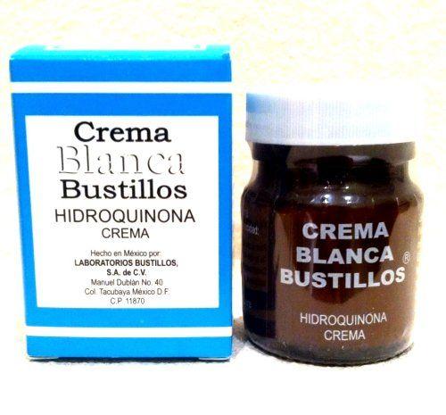 Crema Blanca Bustillos Hidroquinona 40g Lightning Cream Glass Bottle