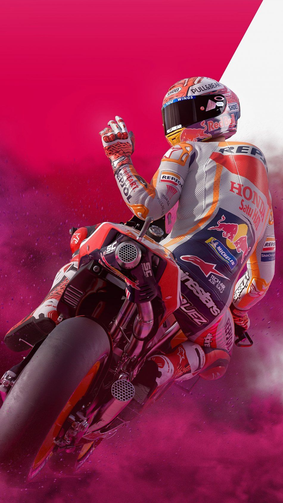 Motogp 19 Game Marc Marquez Motogp Mobile Wallpaper