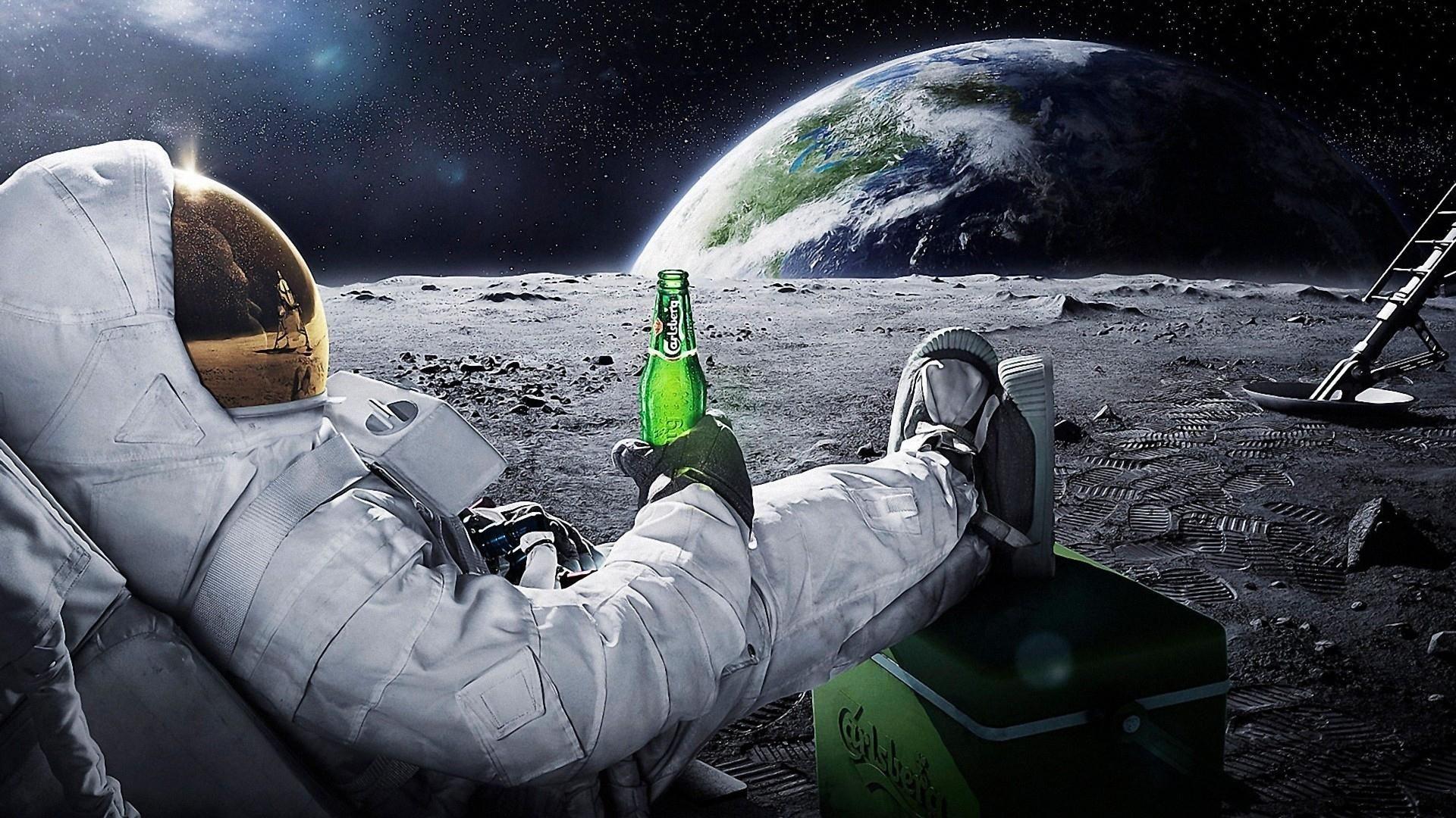 carlsberg beer in space desktop wallpaper