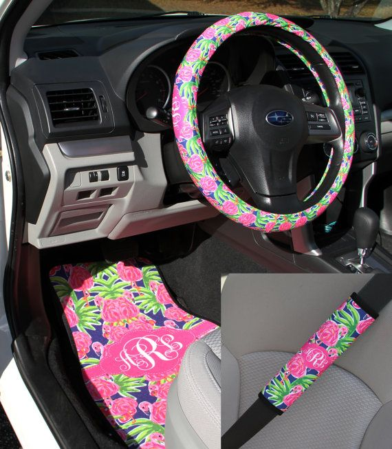 Lilly Pulitzer Inspired Car Accessories Car Mats By