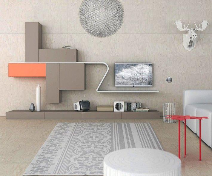 Novamobili Wave Wohnwand GD 220 Wohnwände, Duschräume und Raumdesign