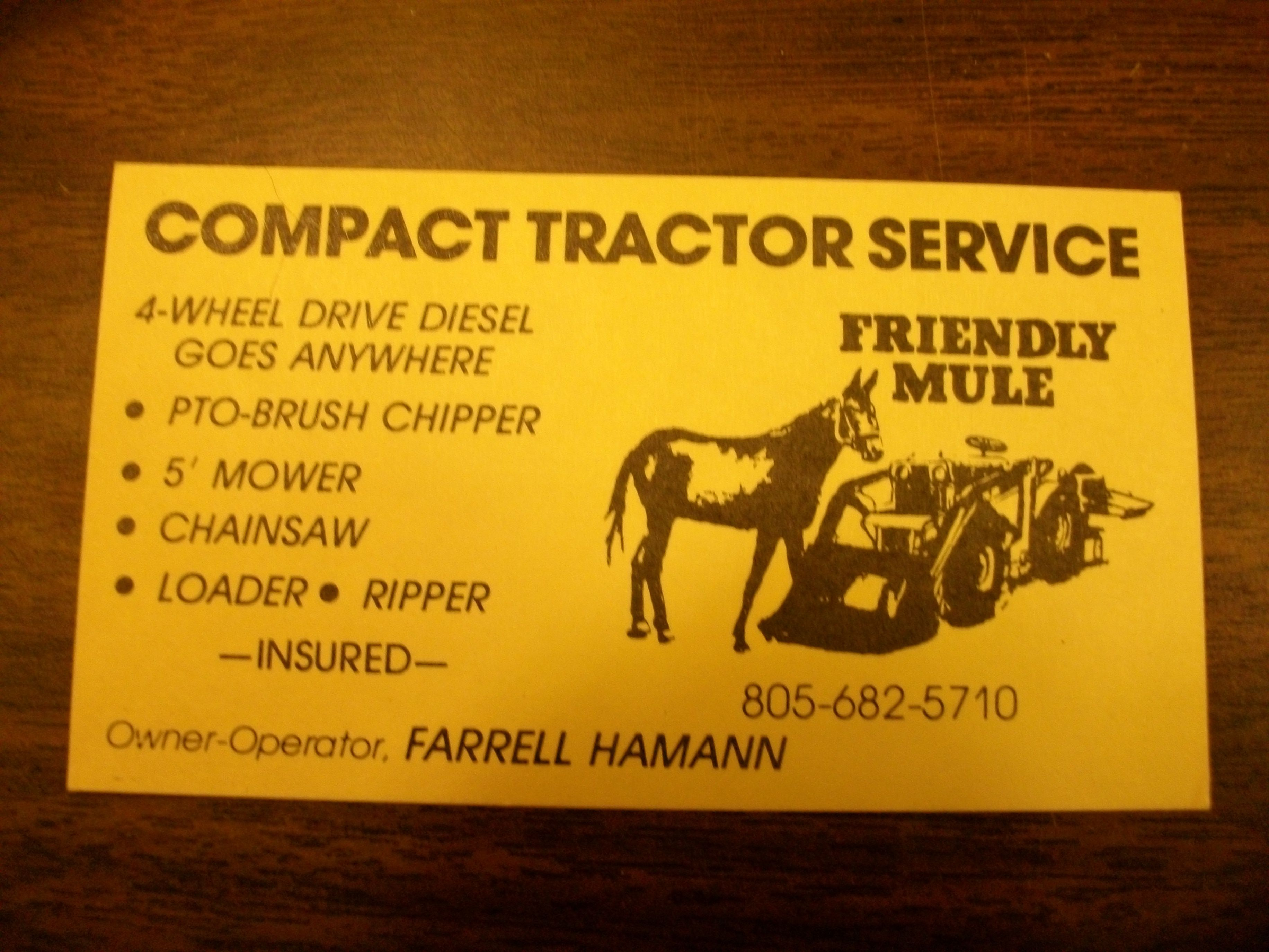 My old business card in Santa Barbara. I hired out the art work ...