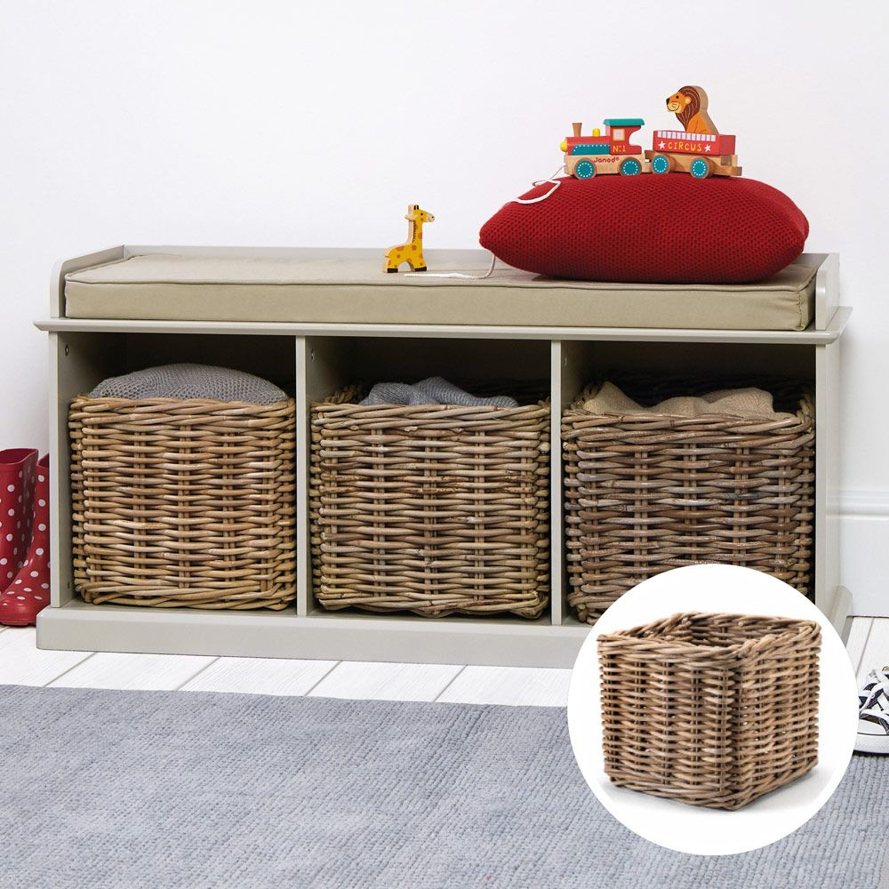 QUICK SHOP: The Stone Abbeville Storage Bench With 3 Storage Baskets    Hallway Storage   Toy Storage