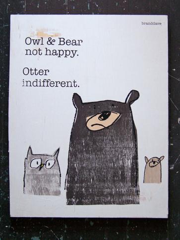 owl and bear print