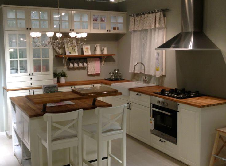 Image Result For Ikea Bodbyn Kitchen Cocina Blanca Ikea Isla