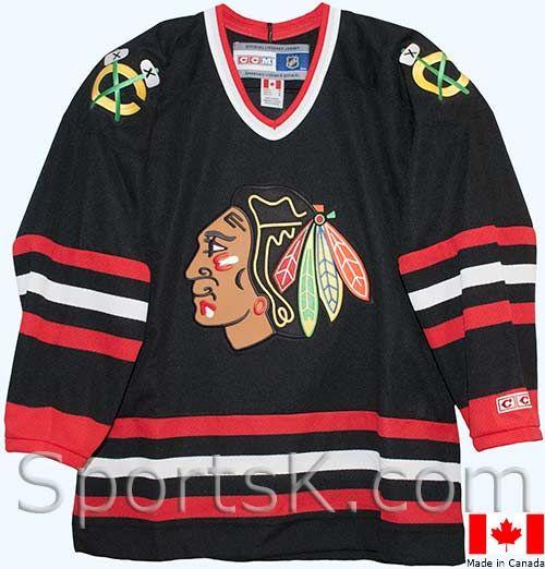 huge selection of fd9d2 a5884 vintage-chicago-blackhawks-third-black-jersey-1999-2007-6 ...