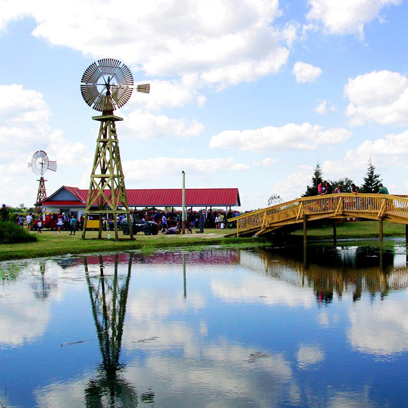 Windmill Park at Dewberry Farm. Just west of Katy, TX ...