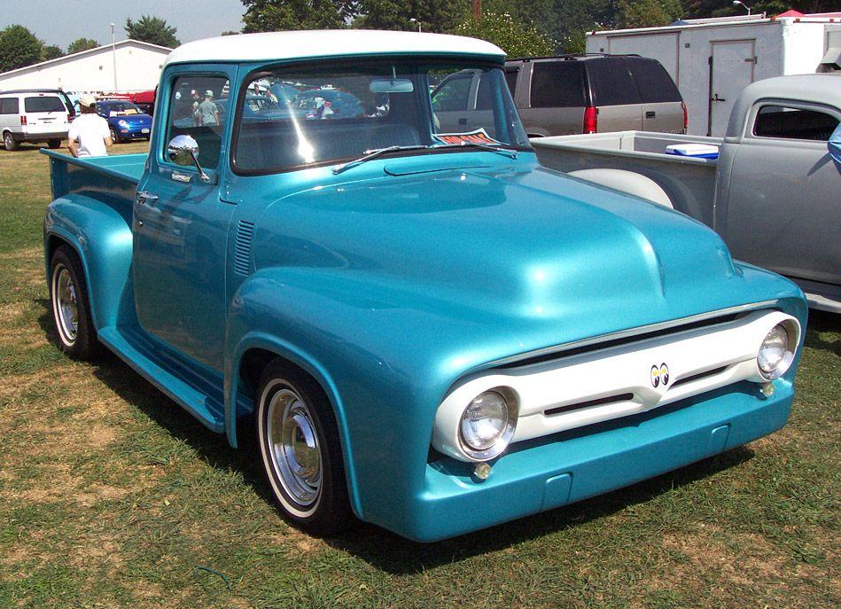 1956 Ford F100--Blue & White