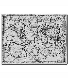 Vanha maailmankartta.