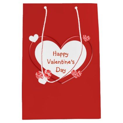 Customizable Red Hearts ValentineS Day Gift Bag  Valentines Day