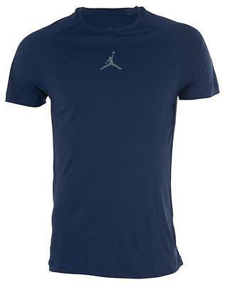 c3160e4184b6 Jordan Aj All-season Fitted Short-sleeve Mens T-Shirts 642404-410 Navy SZ-M