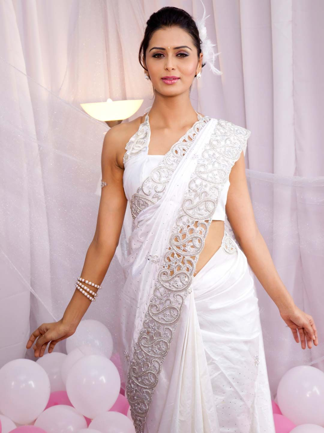 White Saree Dress